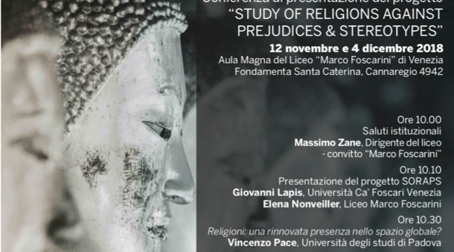 """Study of religions against prejudices & stereotypes"": Conferences on the SORAPS Project"
